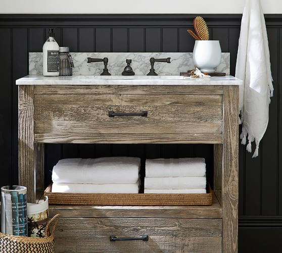Paulsen 36 Reclaimed Wood Single Sink Vanity Pottery Barn