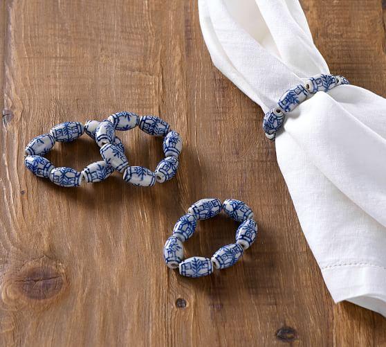 blue 4 bead ring