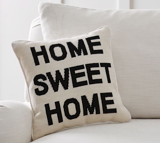 Home Sweet Home Decorative Pillow Pottery Barn