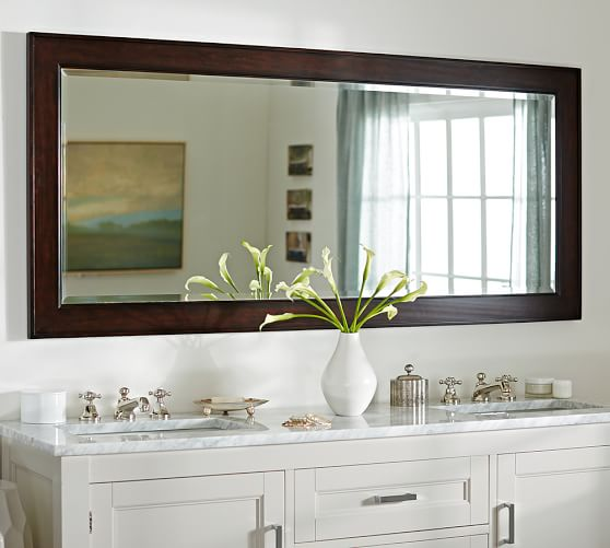 Classic Double Wide Wall Mirror Pottery Barn