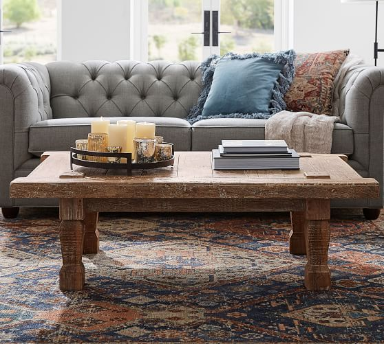 Takhat 53 5 Reclaimed Wood Coffee Table Pottery Barn