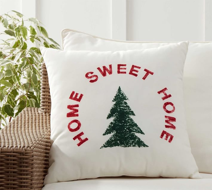 Indoor Outdoor Home Sweet Home Pillow Pottery Barn
