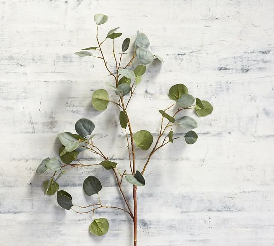 Artificial Eucalyptus Plant Sprigs Faux Greenery Stems Leaves Branches