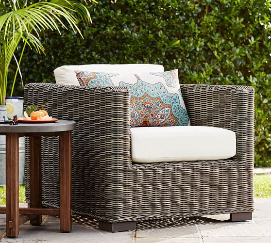 Huntington All Weather Wicker Square, All Weather Wicker Outdoor Furniture