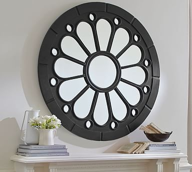 Rosette Mirror 47 Pottery Barn, How To Install Mirror Rosettes