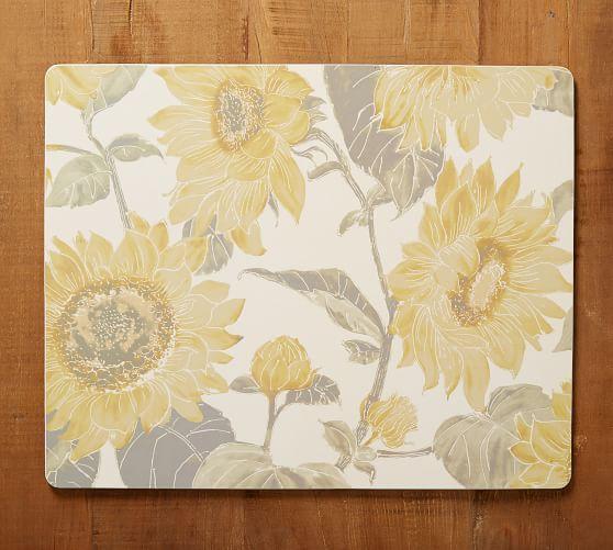 Sunflower Print Cork Placemat Pottery Barn