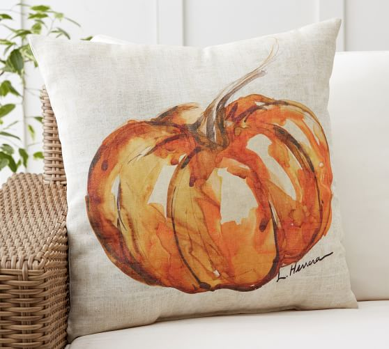 Painted Pumpkin Patch Indoor Outdoor Pillow Pottery Barn