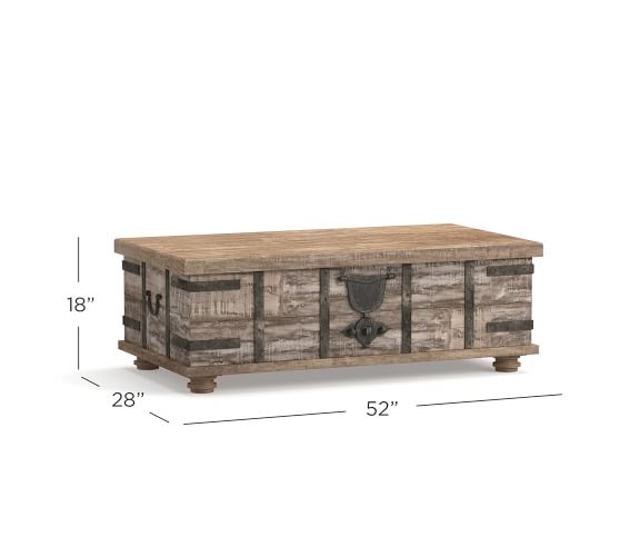 Kaplan Reclaimed Wood Lift Top Coffee Table Pottery Barn