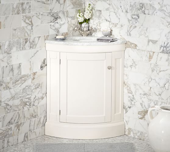 Brinkley Demilune 21 5 Single Corner Sink Vanity Pottery Barn