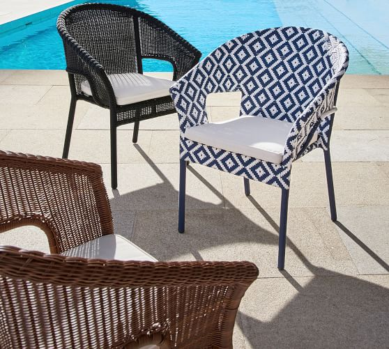 Palmetto All Weather Wicker Stacking, All Weather Wicker Outdoor Furniture