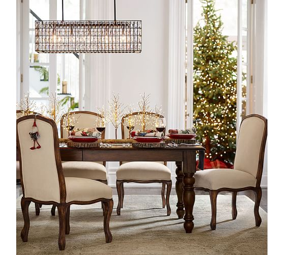 Lit White Berry Drop Tree Centerpiece Pottery Barn