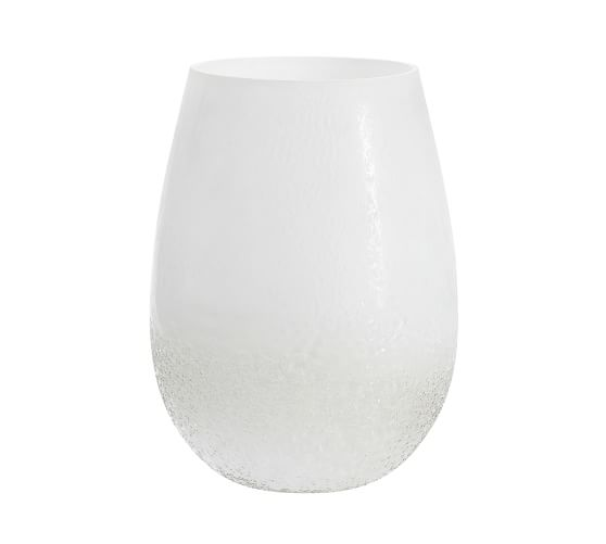 Frosted Glass Hurricanes White Pottery Barn