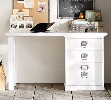 Bedford 52 Writing Desk With Drawers Pottery Barn