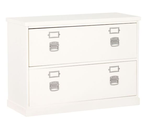 Bedford 2 Drawer Lateral Filing Cabinet Pottery Barn