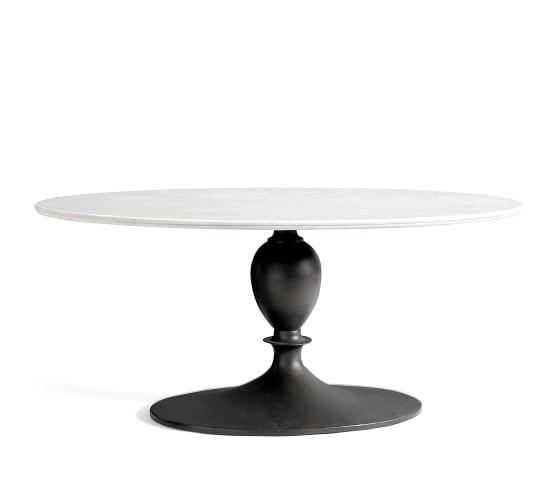 Chapman Oval Marble Pedestal Dining Table Pottery Barn
