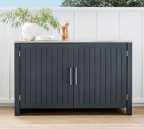 Indio Metal Outdoor Kitchen Double, Outdoor Sideboard Cabinet