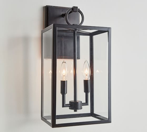 Manor Glass Iron Sconce Pottery Barn, Outdoor Light Sconce