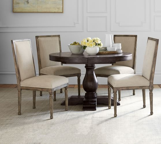 Lorraine Round Pedestal Extending, Round Pedestal Dining Table With Leaves