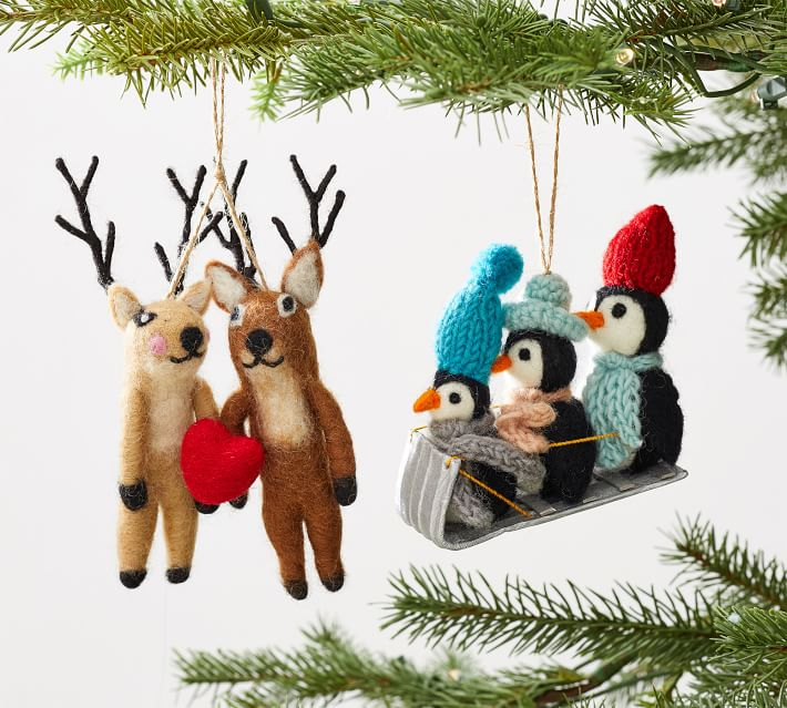 Set Of 3 Penguin Hanging Tree Decorations