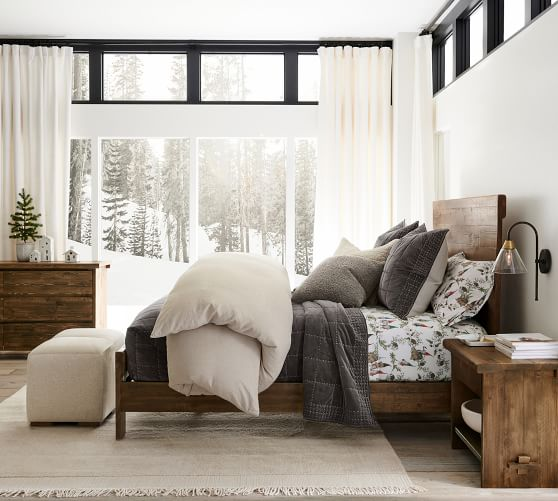 North Reclaimed Wood Platform Bed Pottery Barn