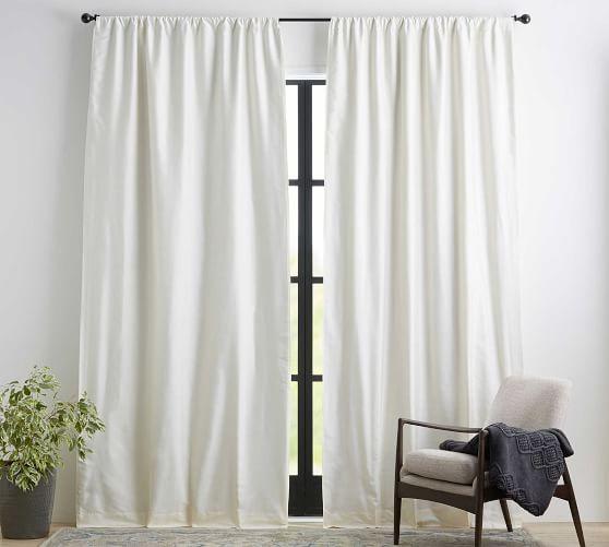 Dupioni Silk Blackout Curtain Pottery, Silk Dupioni Curtains Pottery Barn