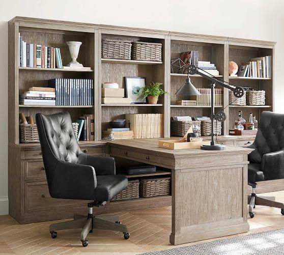 Livingston Peninsula Desk With 140, Pottery Barn Office Furniture