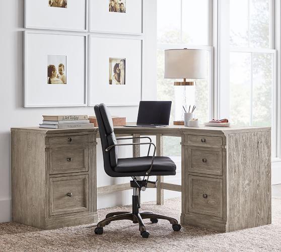 Livingston Corner Desk With Drawers, Pottery Barn Office Furniture