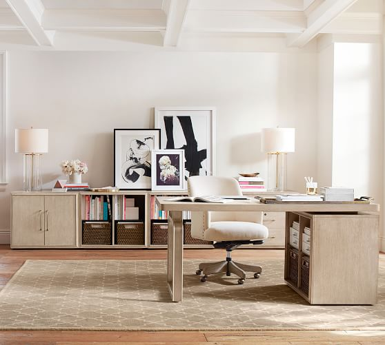 Danielle Modular Home Office Collection, Pottery Barn Office Furniture