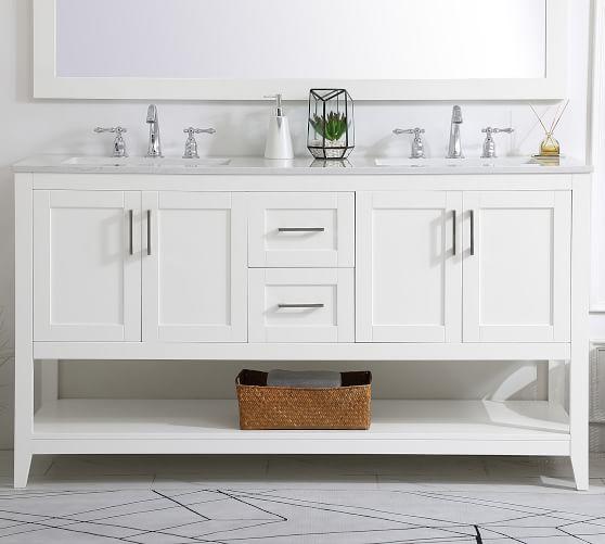 Belleair 60 Double Sink Vanity, Bathroom Cabinets Double Sink