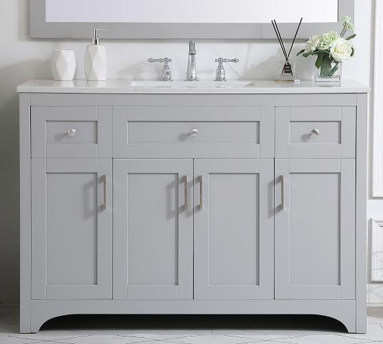 Cedra 48 Single Sink Vanity Pottery Barn, 48 Single Sink Bathroom Vanity