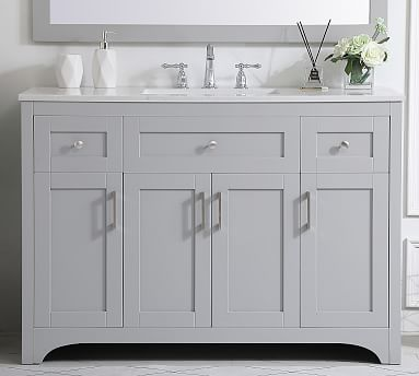 Cedra 48 Single Sink Vanity Pottery Barn, What Size Mirror Goes With A 48 Inch Vanity