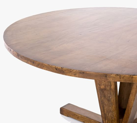 Parkview Reclaimed Wood Round Pedestal, Reclaimed Wood Round Dining Room Table