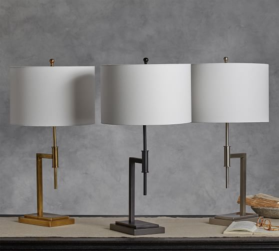 Atticus Table Lamp Pottery Barn, Metal Table Lamps