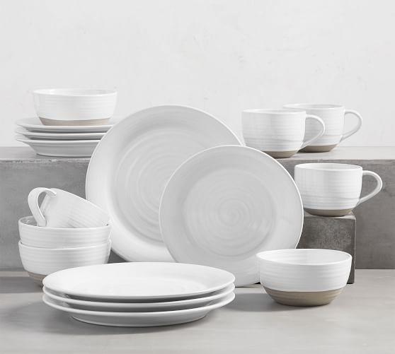 Quinn Handcrafted Stoneware 16-Piece Dinnerware Set