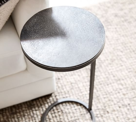 Duke Accent Side Table Pottery Barn, Round C Table