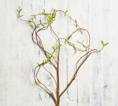 Faux Curling Willow Branch Pottery Barn, Willow Branch Outdoor Living