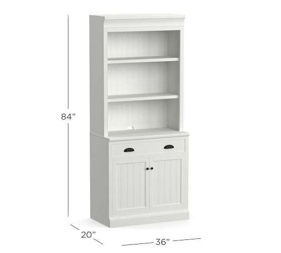 """Aubrey 36"""" x 84"""" Wide Bookcase with Doors 