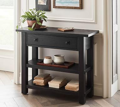 Benchwright 36 Console Table Pottery Barn - Small Console Table With Drawers