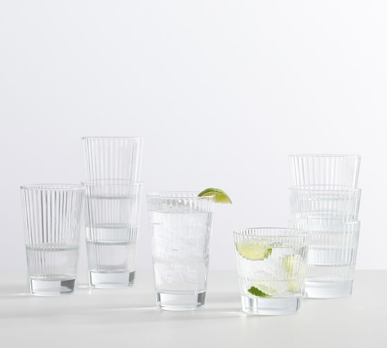 Astoria Optic Stackable Drinking Glasses - Set of 4