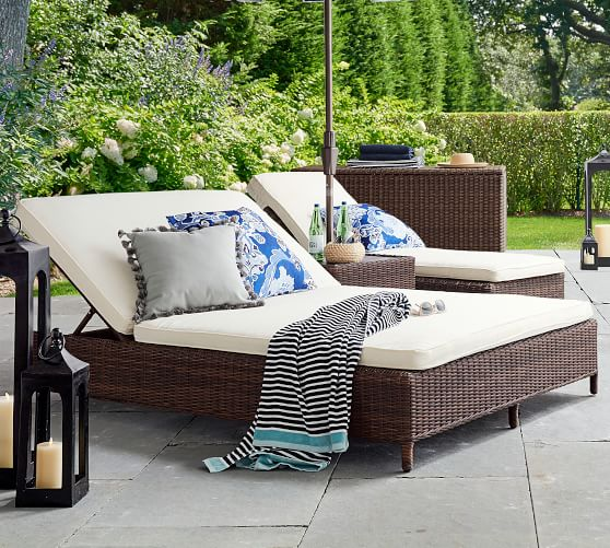 Torrey All Weather Wicker Double, Double Chaise Lounge Outdoor