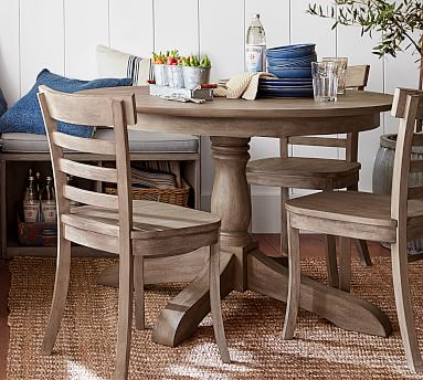 Owen Round Pedestal Extending Dining, Round Extendable Dining Table Set Grey
