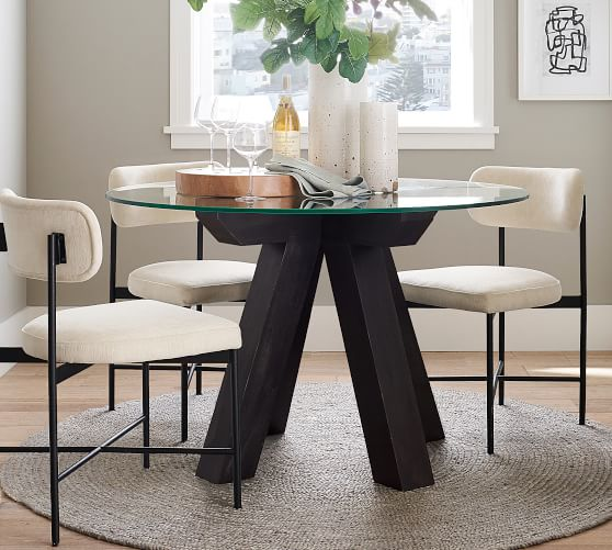 Ezra Round Pedestal Dining Table, Pottery Barn Tables Round