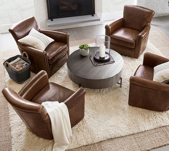 Fargo 40 Round Reclaimed Wood Coffee, Round Coffee Table With Stools