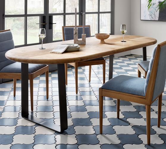 Joaquin Oval Dining Table Pottery Barn, Oval Dining Room Table