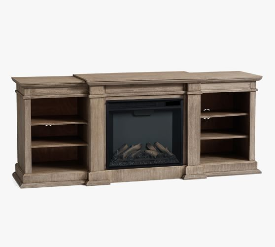 Lorraine 72 Electric Fireplace Media, Black Media Storage Tv Stand And Electric Fireplace