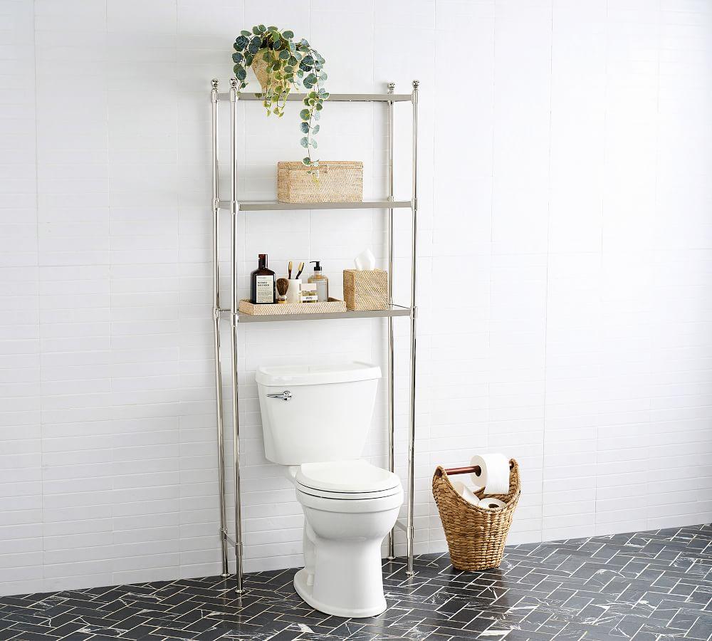 Metal Over The Toilet Storage Pottery, Bathroom Toilet Storage