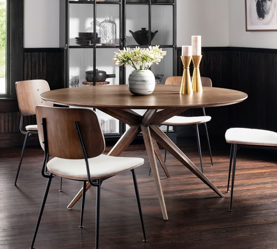 Hunter Round Dining Table Pottery Barn, Modern Round Dining Set