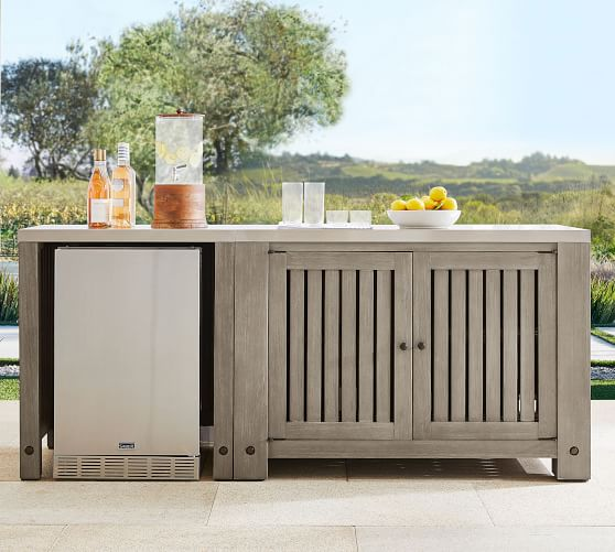 Abbott Outdoor Fsc Acacia Kitchen, Outdoor Sideboard Cabinet