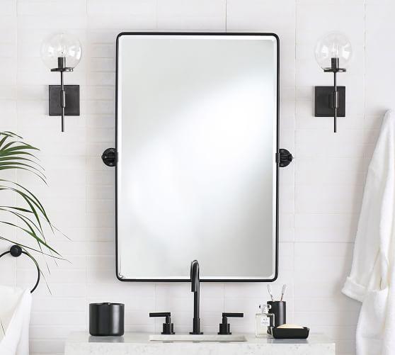 Vintage Pivot Wall Mirror Pottery Barn, Mirror For Bathroom