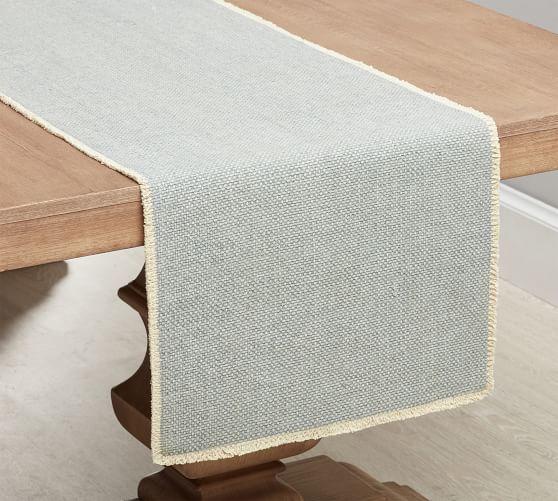 Mason Handwoven Cotton Fringe Table Runner